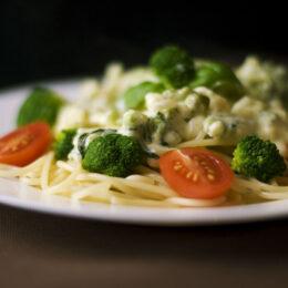Spaghetti mit saisonalem Gemüse (vegan)